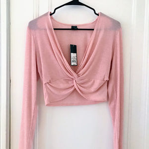 Wild Fable Blush Pink Crop Top - Brand New!